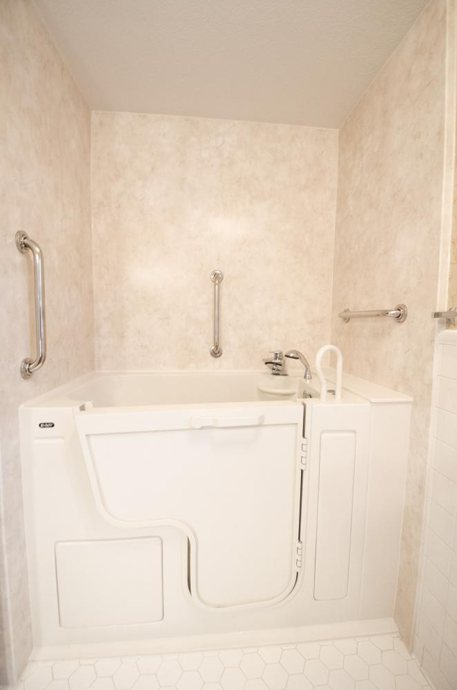 Greensboro Bathroom Remodel - Complete Bathroom Remodel - Master Bathroom Remodel -  ADA compliant Bathroom remodel - Walk-in Shower Remodel - Tub to Shower Remodel - Bathroom Remodel - Triad Bathroom Remodeler - Re-Bath of the Triad - walk-in tub - walk-in bathtub