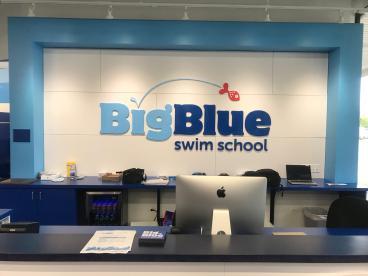 Dimensional Wall Graphics - Big Blue Swim School - Hoffman Estates
