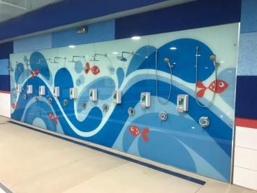 Wall Mural - Big Blue Swim School - Hoffman Estates