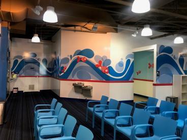 Wall Mural and Dimensional Graphics - Big Blue Swim School - Wilmette, IL