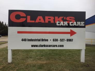 Outdoor Signage - Clark's Car Care - Naperville, IL