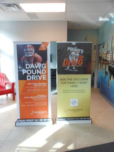 Cleveland Browns Dawg Pound Drive - Retractable Banner Stands