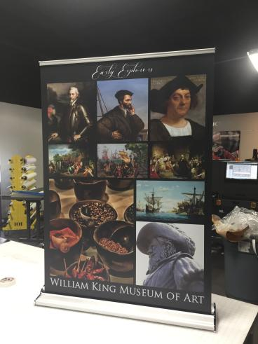 Table Top Retractable Banner Stand for William King Museum