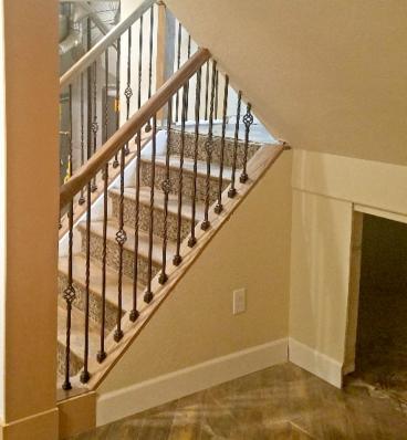 Finished Staircase rebuild, Basement remodel, Golden CO 80401