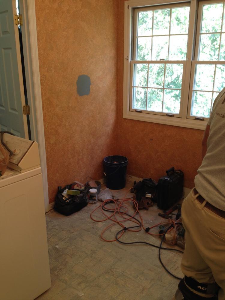 Before photo of master bathroom renovation in Washington, PA