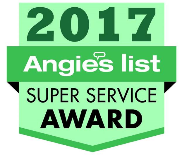 We are the winners of the Angie's List Super Service Award  12th year in a row!