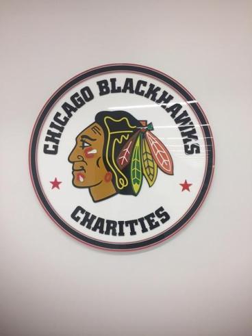 Office Sign - Chicago Blackhawks Charities