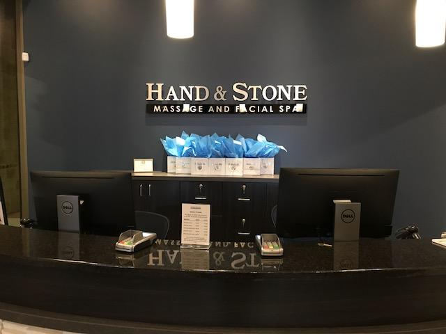Hand and Stone - the Vineyard front desk