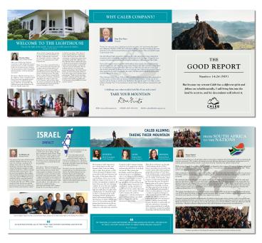 Caleb Company Trifold Brochure