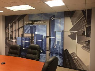 Office Wall Mural - Tenant Advisors - Schaumburg