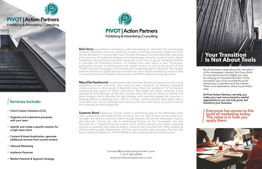 Pivot Action Partners Gatefold Brochure (Outside)