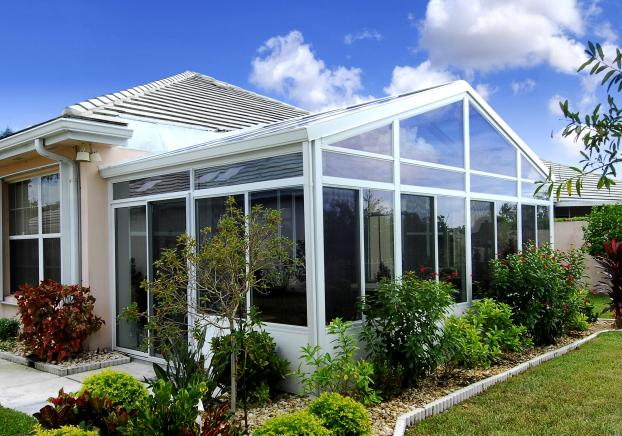 Cathedral Design Sunroom with an All-Glass Roof System