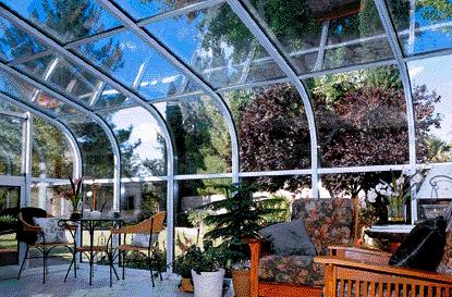 Curved Glass Low Profile Designed Sunroom
