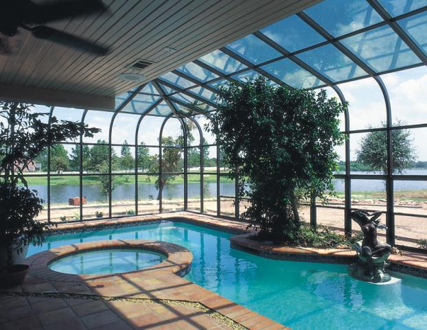 Custom Curved Glass Pool Enclosure Project