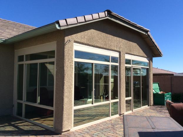 Custom Patio Enclosure Front Left Side View, Summerlin Nevada