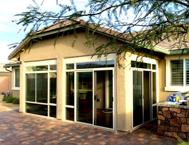 Custom Patio Enclosure ( Front Right View ) - Summerlin, Nevada