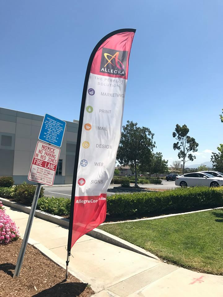 Custom flutter flag Allegra Corona, CA