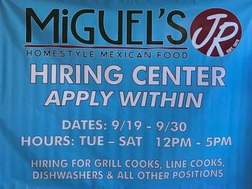 Miguel's Jr Hiring Center Event