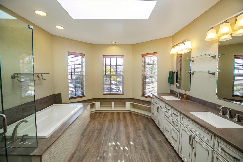 Beautiful master bathroom by our team in Albuquerque, NM