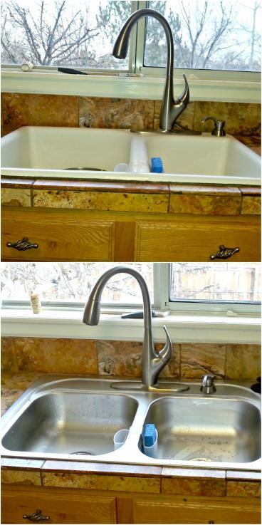 New sink install before and after in Morrison CO 80465