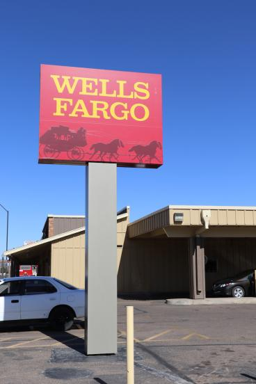 Wells Fargo Pylon Sign