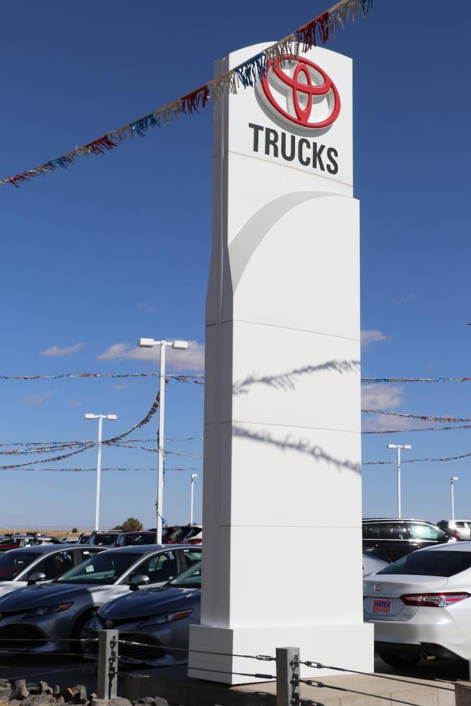 Hatch Toyota Pylon signs