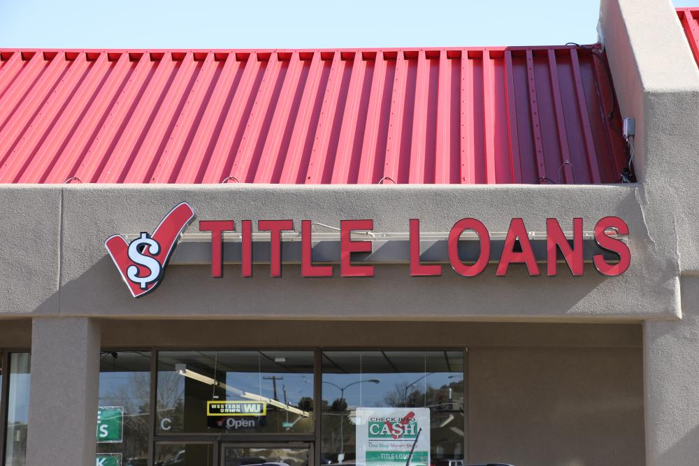 New Sign for Title Loans