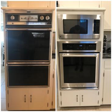 Oven Install (before and after)