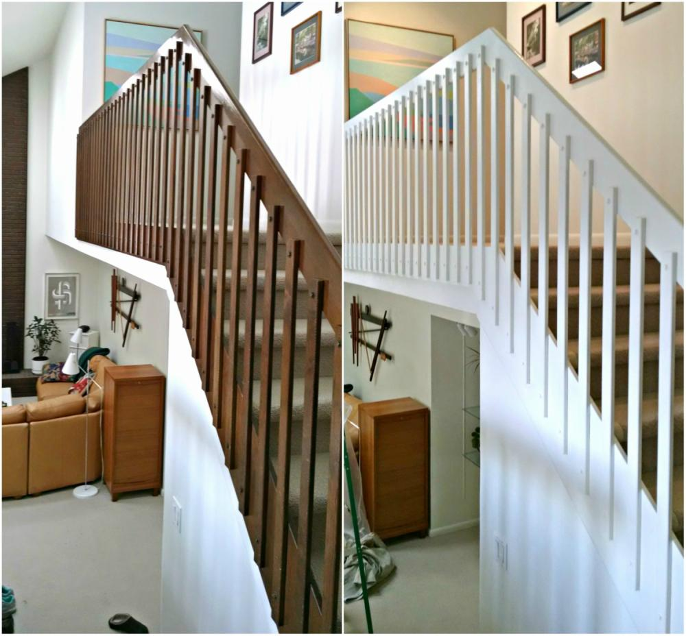 Strip, stain, and Paint Stair railings in the Pinery CO 80134
