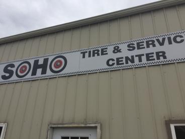 Building Sign for Soho Tire & Service Center