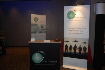Trade Show Branding for Owens Financial Group