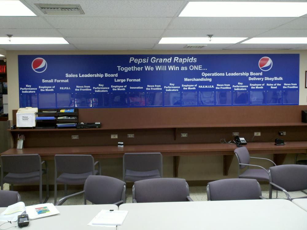 Large Indoor Sign for Pepsi Grand Rapids