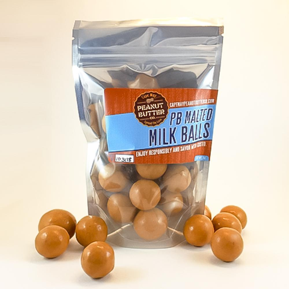 Cape May Peanut Butter Co. - Malted Milk Balls Label