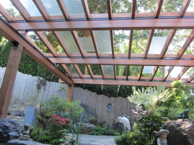 Partially Glazed Pergola