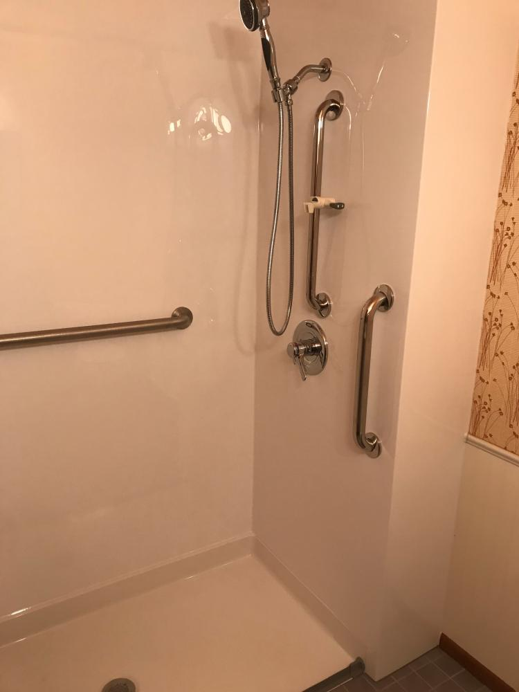 0-Entry shower base