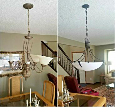 New Chandelier  mounted in Roxborough Park CO 80125