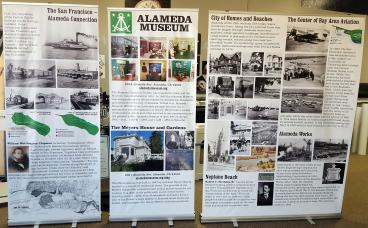 Alameda Museum banner stands