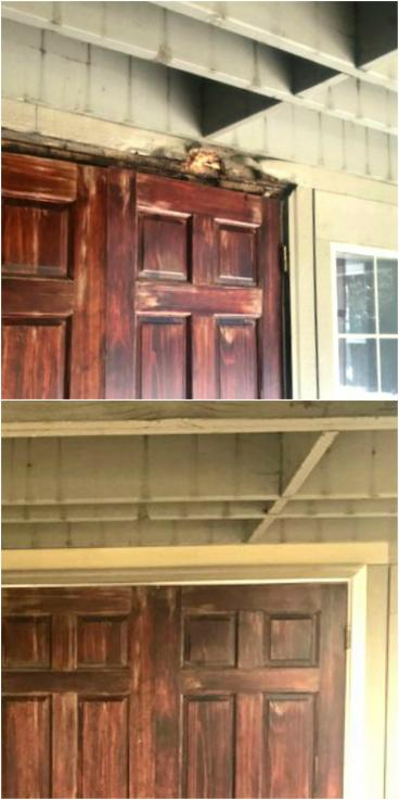 Rotted Door Jamb rebuild in Elizabeth CO 80107