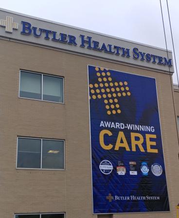 Butler Health System Building Banner