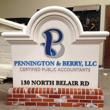 Peachtree Foamcraft Monument Sign with Faux-Brick Base