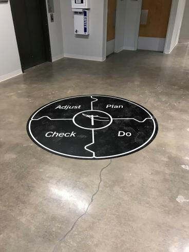 Floor Graphics For New Office Space