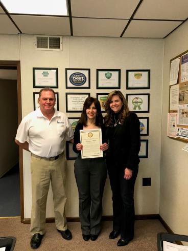 Handyman Matters South Pittsburgh with Senator Bartolotta receiving Certificate of Congratulations