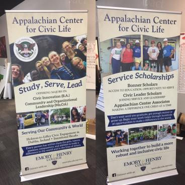 Retractable Banners for Emory and Henry College