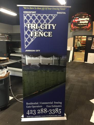 Retractable Banner for Tri-Cities Fencing