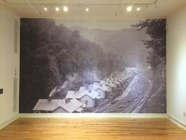Railroad Wall Mural for William King Museum of Art, Completed
