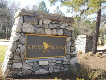 River Island Monument Sign