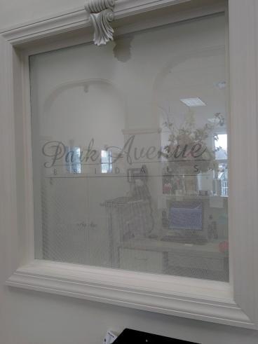 Park Avenue Bridals Window Perf