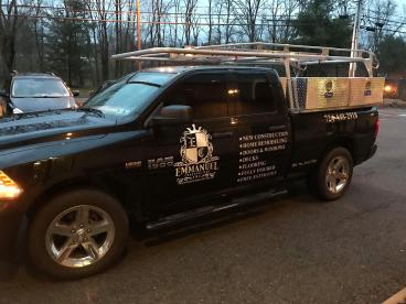 Emmanuel Construction Truck Graphics (side)