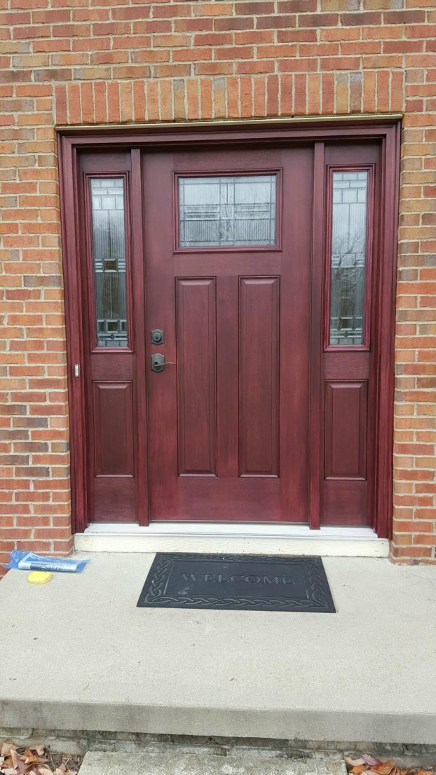 Stained Front Door in Westerville