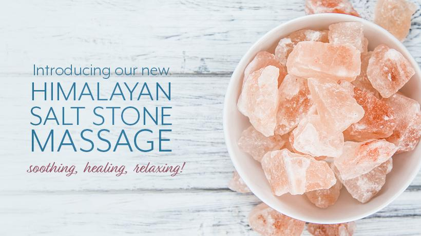Enjoy our Himalayan Salt Stone Massage!